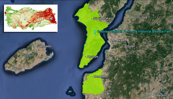 Gelibolu_(Gallipoli)_Historical_National_Park_Map