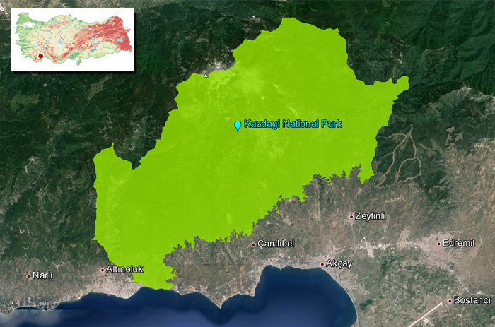 Kazdagi_National_Park_Map