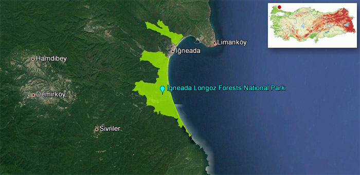 Igneada_Longoz_Forests_National_Park_Map